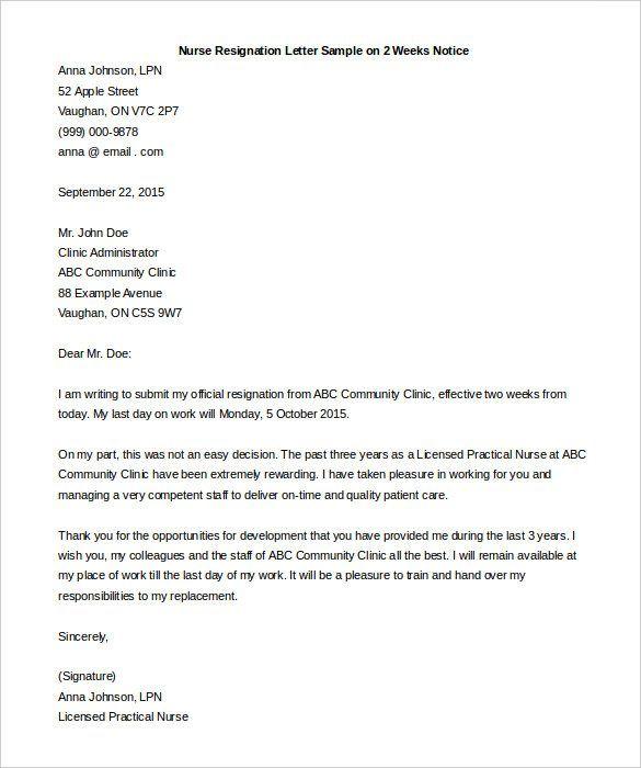 25+ ideias exclusivas de Two week notice letter no Pinterest - 2 week notice letters