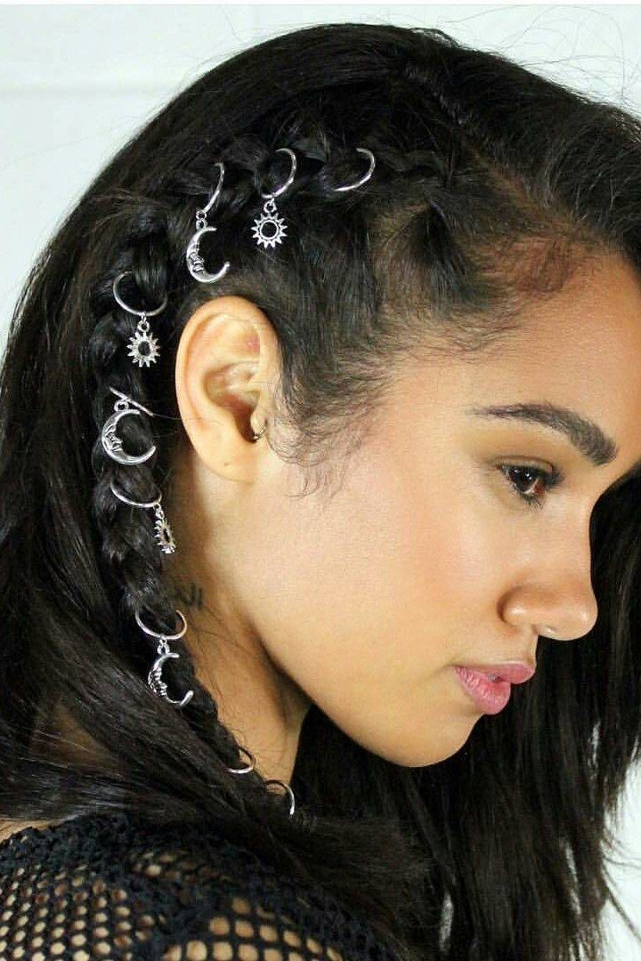 Braids With Hair Rings for Music Festivals | Teen Vogue