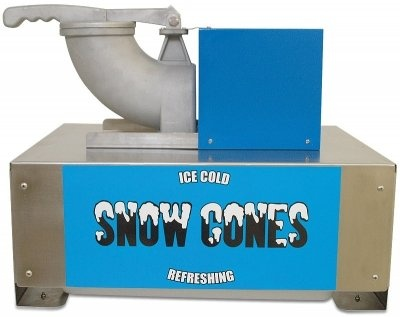 Portable Blue 1 Gallon Tempered Windows Beverage Snow Cone Cart with Wheels