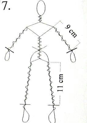Estrutura interna e dimensões de um Boneco de papel machê