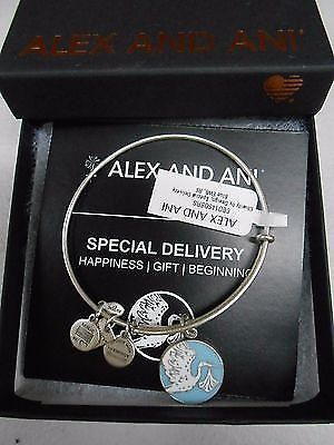 Alex And Ani Charity By Design Special Delivery Blue Bracelet Raf Silver Nwtb&C