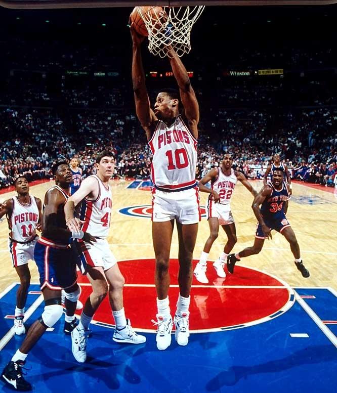 Dennis Rodman Detroit Pistons John Salley Bill Lambier Isiah Thomas ...