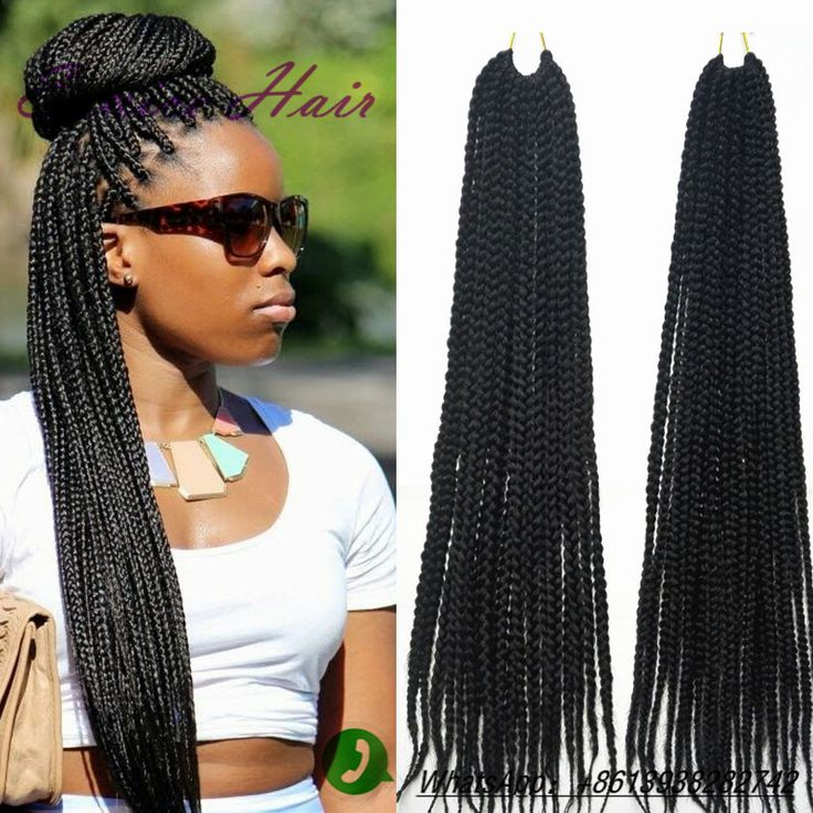 Crochet Hair Online Uk : Synthetic 3X box braids crochet braids hair Kanekalon Braiding Hair ...
