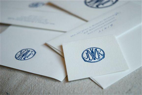 JKM Interlocking Monogram Design with Rope Frame  Savannah Designer, Emily McCarthy: Custom Monogram Design