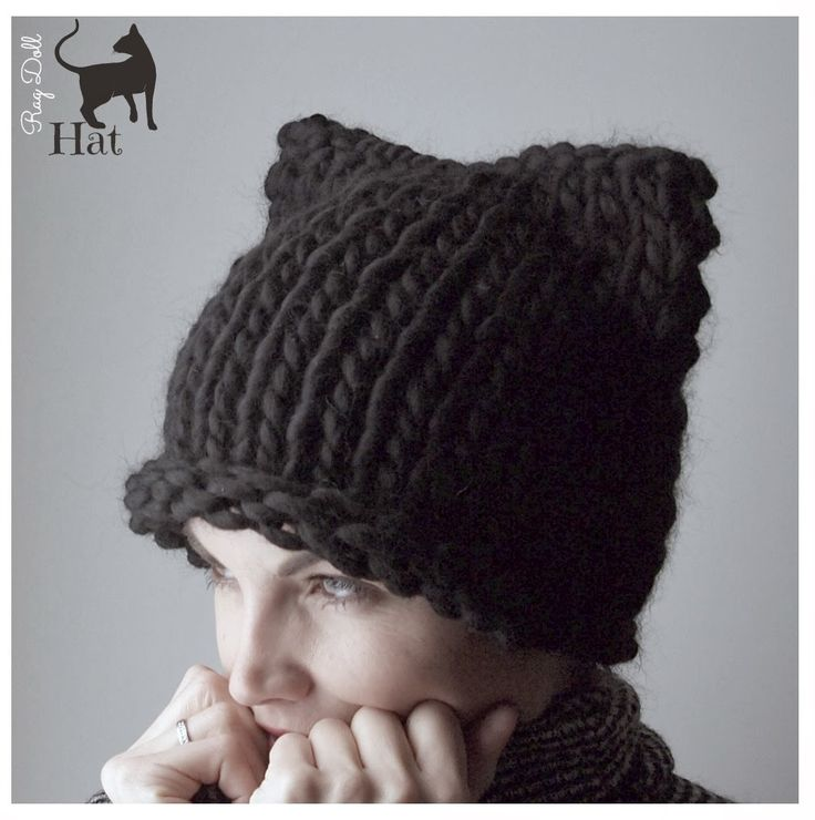 gorro hecho a mano lana natural gruesa negro