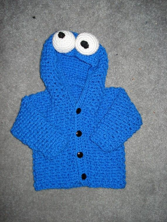 PDF crochet blue monster PATTERN size2 by pennysstitches on Etsy. Could make it red too.