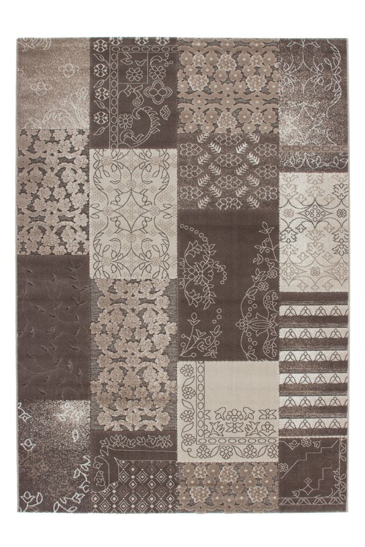 tapis patchwork pour salon taupe velours brillant wwwtapis decofr