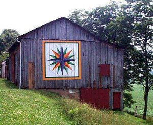Barn quilt: Marines Compass, Quilts Patterns, Paintings Barns, Paintings Quilts, Quilts Blocks, Barn Quilts, Quilts Design, Quilts Barns
