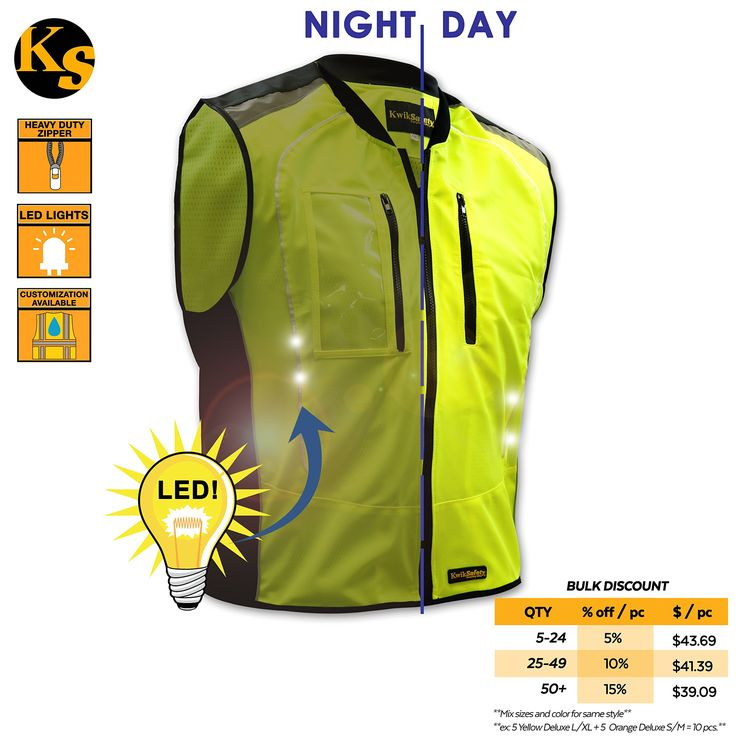 KwikSafety Firefly Racing LED Cycling Vest | Hi Vis Reflective & Luminous Biker Safety | Breathable Lightweight Waterproof Windproof Cycle Jersey| Men Women Recreational & Motorcycle Gear | L/XL. ✅ LED: Our KwikSafety LED Cycling Vest ensures our users to be seen and to be safe during any outdoor recreational activity with 360 Reflective Coverage. Our Firefly LED Light Strips on the front and back of the vest, enhance visibility both day and night and in any and all weather conditions…