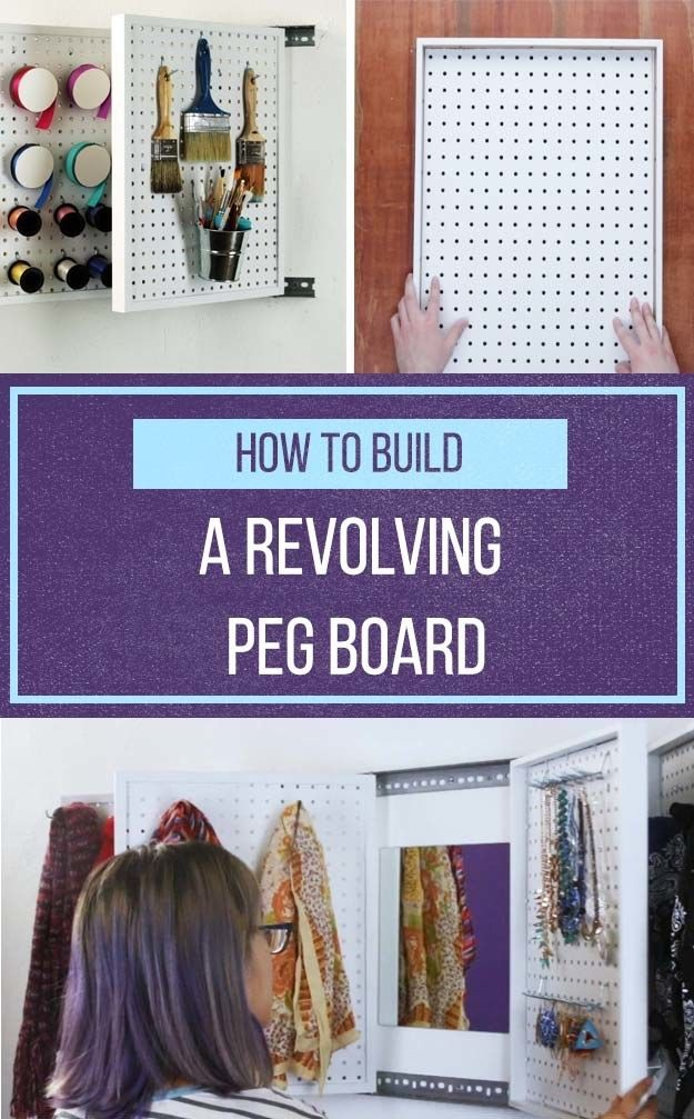Keep tools, accessories, or crafting supplies organized with this pegboard flip book storage system!