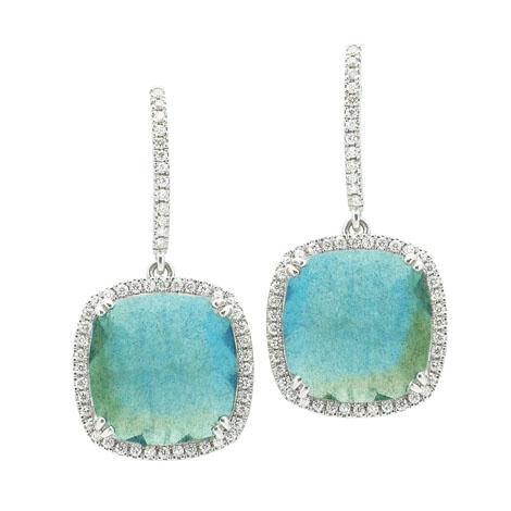Jan Logan 18ct labradorite & diamond Phoebe earrings
