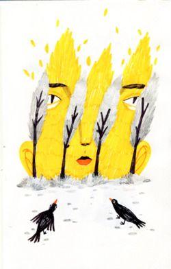 """Behind those trees""   Andrea Wan"