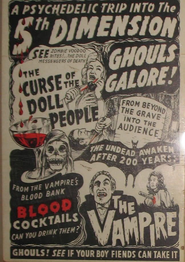 Spook Show posters and memorabilia in Classic Horror Movie Memorabilia Forum