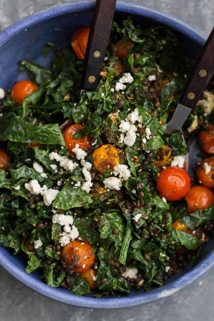 Za'atar Roasted Tomato Salad with Black Lentils | Naturally Ella