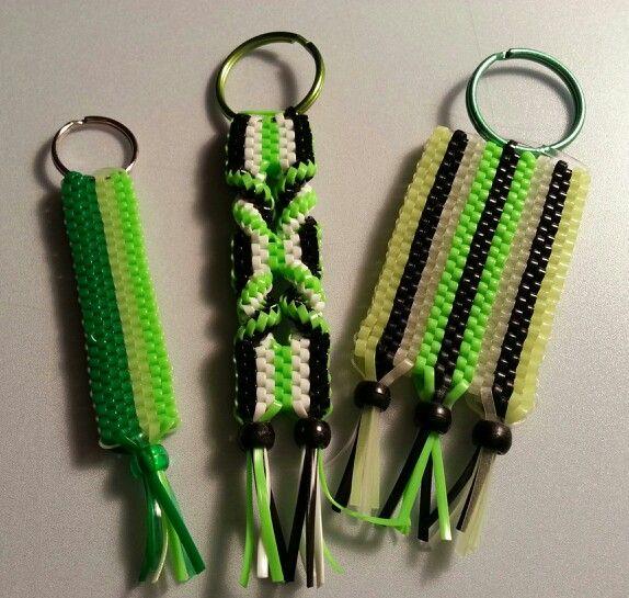 My scoubidou,  boondoggle, craft lace key chains - set #4