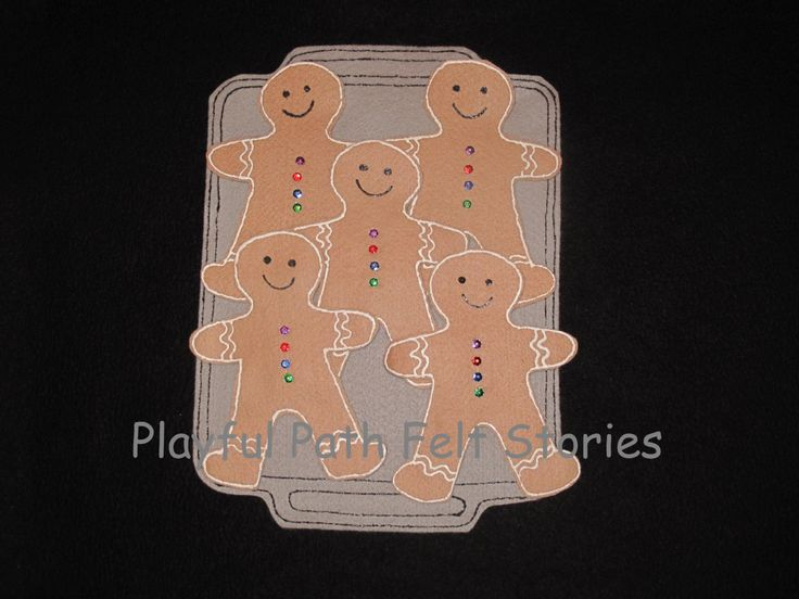 Five Yummy Gingerbread by PlayfulPathFelts on Etsy