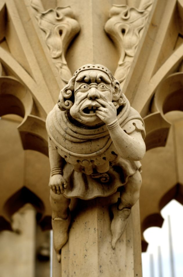 A series of 'Grotesque' carvings in the Minster
