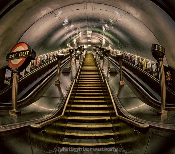 London Underground - HDR by Tracie Callaghan, via Behance