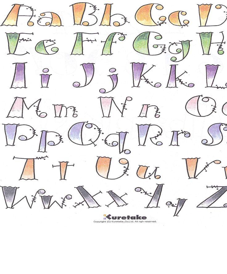 Creative way of writing alphabets cool? Do my latin homework.