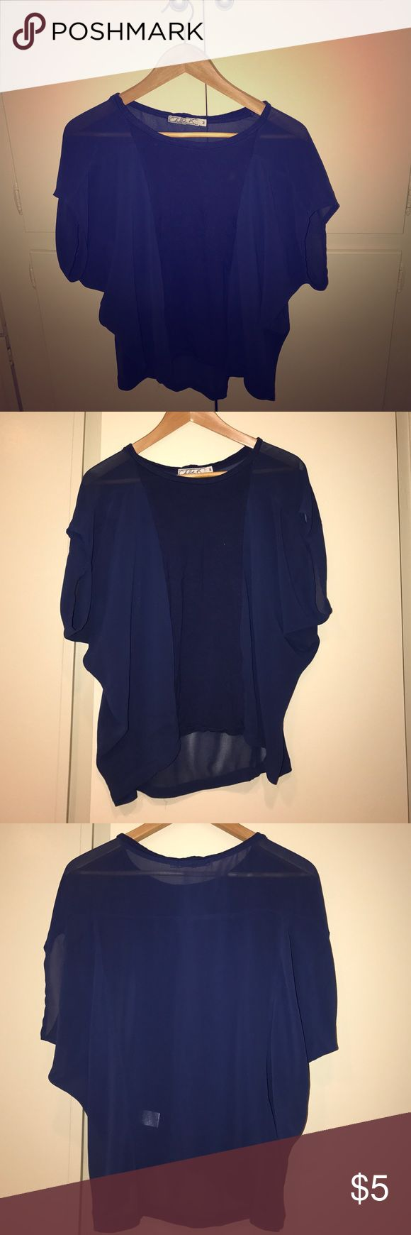 Short sleeved royal blue batwing top Easy, casual short sleeved batwing top from Chloe K in royal blue. Size M. 100% polyester and contrast panel in front is 100% rayon. Originally purchased at Nordstrom. Chloe K Tops Blouses