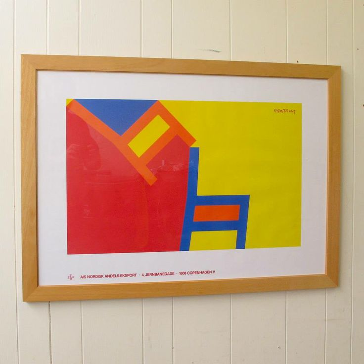 Framed Original Poster by Per Arnoldi,