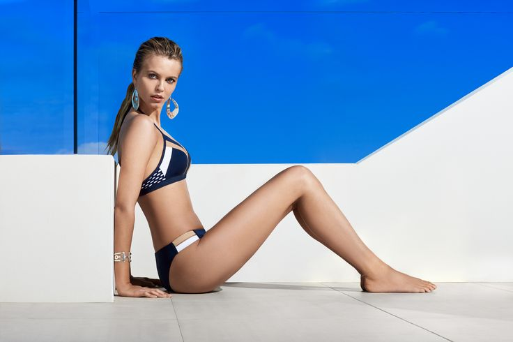 JETS Swimwear Deluxe Halter Bikini Top And Hipster Bikini Bottom Swimsuit | With serious sport-luxe inspirations, this halter bikini top is set to take your style to the next level. With colour blocked panels and a play on texture, dare to be brave with deluxe.