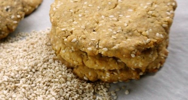 μπισκότα με σουσάμι στο ...άψε-φτιάξε - Pandespani.com