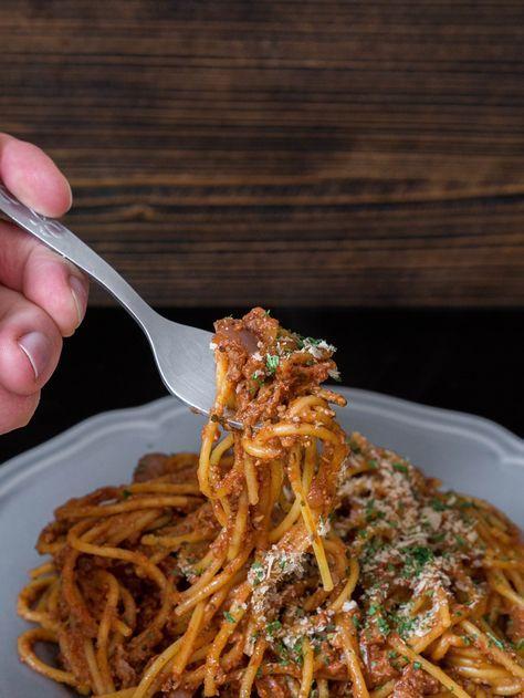Wegańskie spaghetti bolognese | Przepis | Blendman.pl
