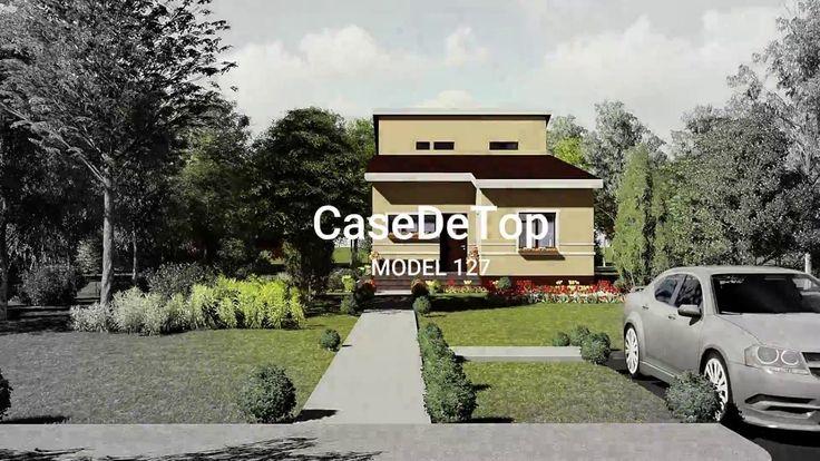 Locuința unifamilială modernă parter este organizată astfel: zona acces, living, dining, bucătărie, grup sanitar, 2 dormitoare copii, baie și dormitor matrimonial (dressing+ baie).  Casa minimalistă, practică și funcțională este situată pe limita de proprietate, pe un teren ingust |  Modern single-family dwelling, 154.00 sq.m- roof version |