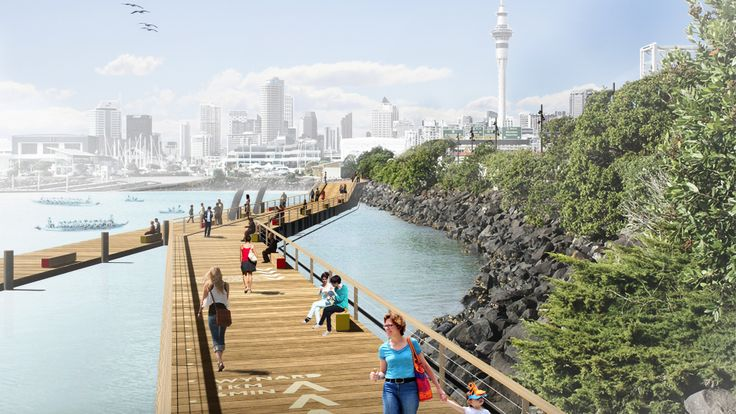 Westhaven Promenae is underway! Waterfront Auckland is currently working on a water's edge promenade and cycleway around Westhaven Marina