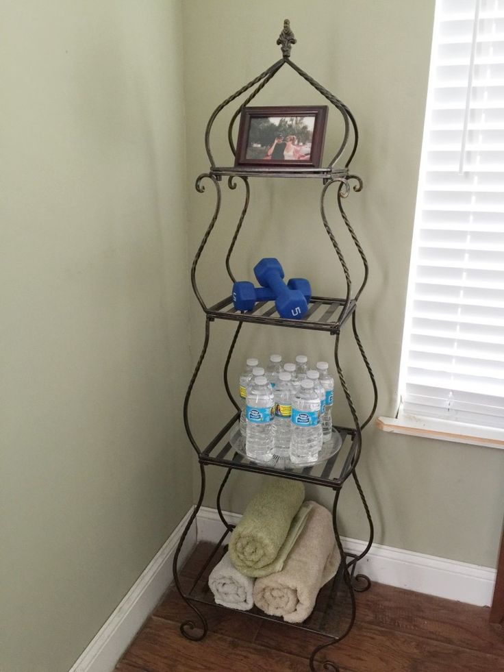 Home gym hydration station ad running