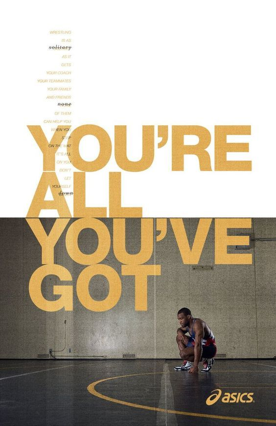 You're all you've got