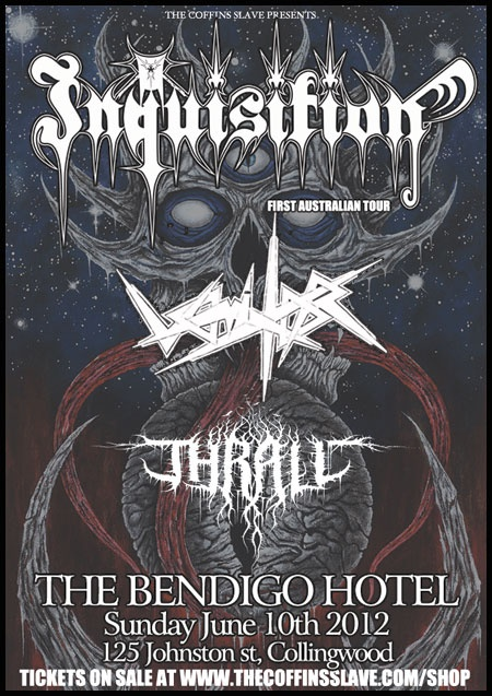 Inquisition gig in Melbourne