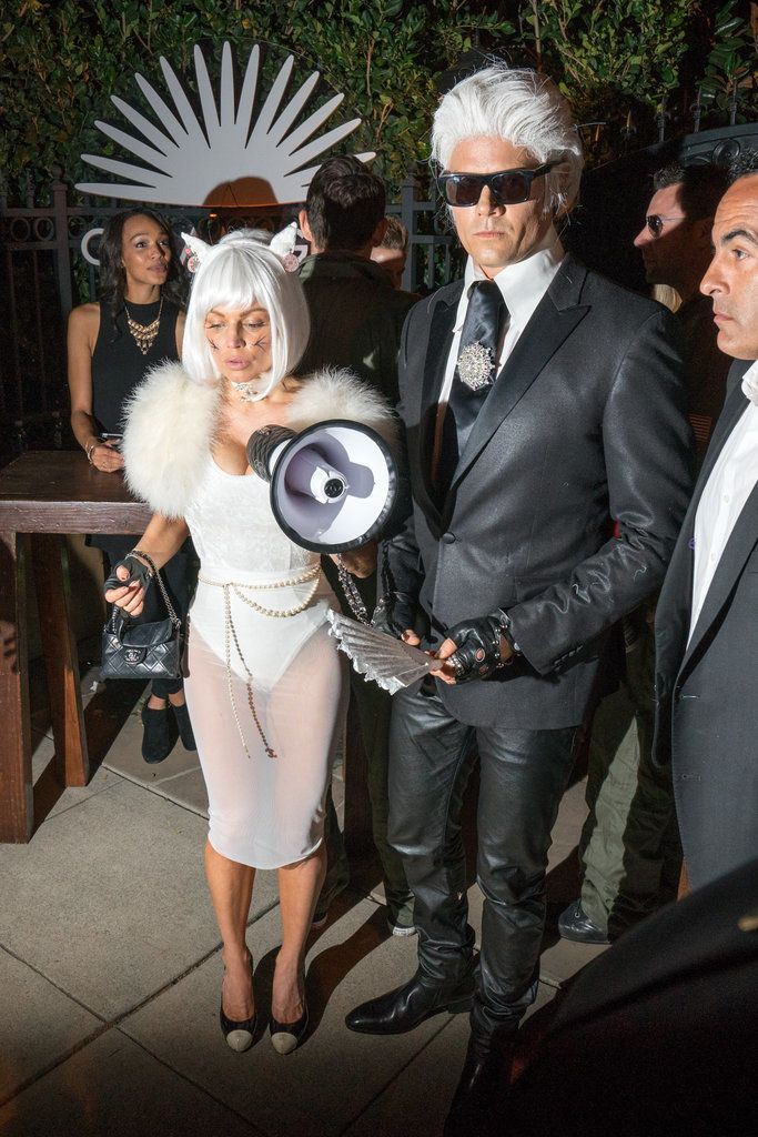 Fergie and Josh Duhamel as Choupette and Karl Lagerfeld