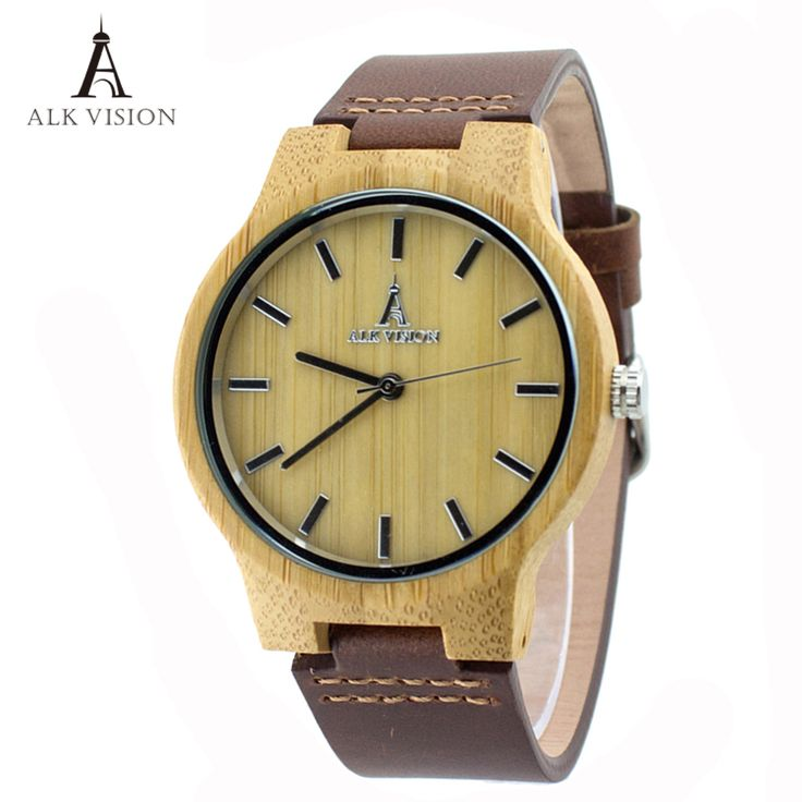 Cheap watch f, Buy Quality watch fashion directly from China watch for Suppliers: ALK Vision Wood Watches with Real Leather Straps Japan Quartz Movement 2035 Wooden Casual Watch For Men Women Fashion Watch