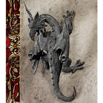 Horned dragon of devonshire wall décor