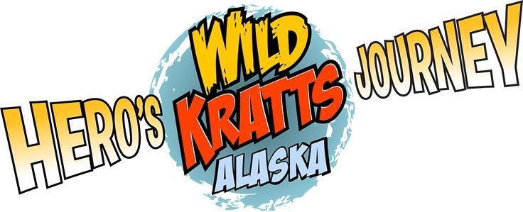 The Wild Kratts round logo surrounded by the movie title Hero's Jouney Alaska.