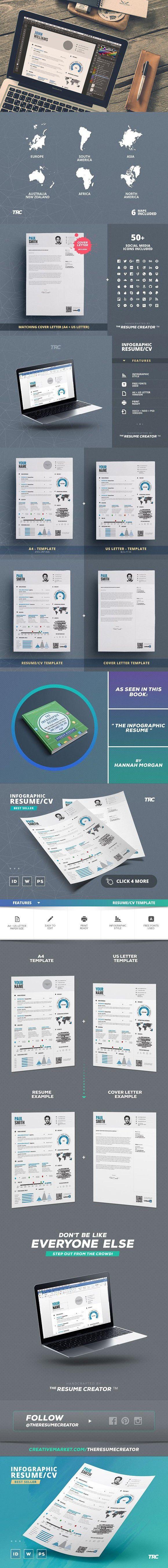 Interactive Cv Templates%0A Infographic Resume Cv Template Vol