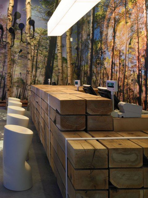 Guru Barin - this wooden counter at the 02 concept shop in London is brilliant.