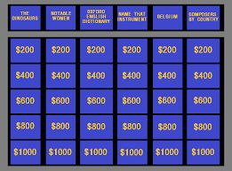 Jeopardy Labs - Make your own Jeopardy game