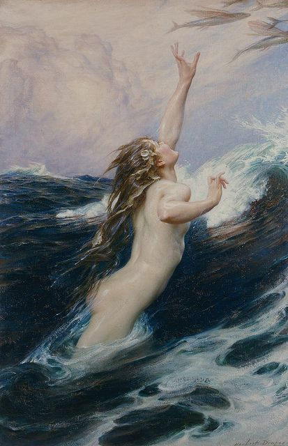 Herbert James Draper | Flying fish, 1910