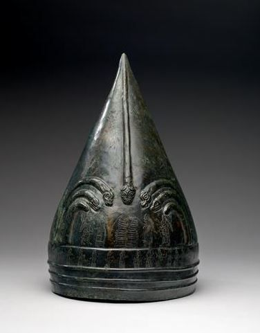 Urartian helmet, circa 9th-8th century B.C.  30.5 cm high Museum fine arts Houston