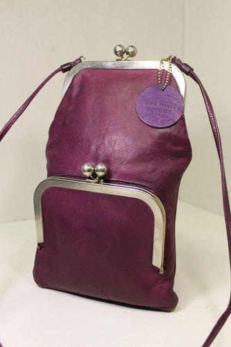 Collectible Vintage Coach Cashin RARE Stacked Double Kiss Lock Bag Handbag