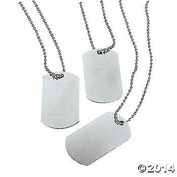 Dog Tag Necklaces - oriental trading company $6.25 dz