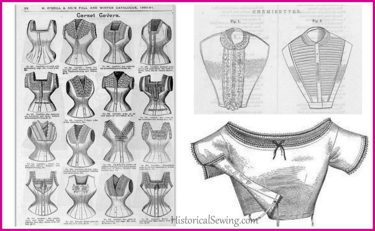 Corset Covers, Chemisettes and Under-Bodices, Oh My! A look at the differences among them.