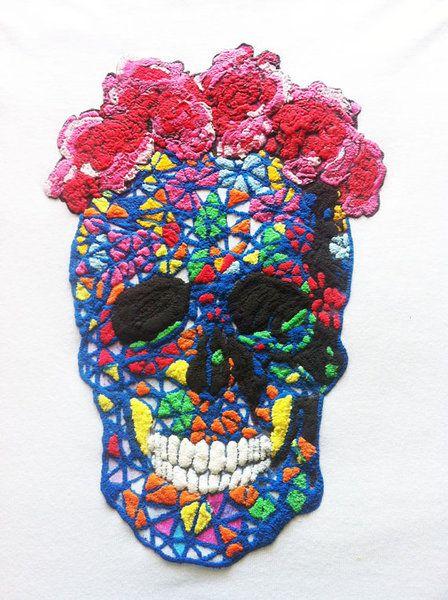 Dia de los muertos tshirt con teschio messicano di Quor è su DaWanda.com