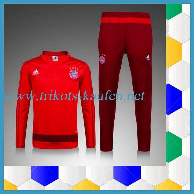 Neue Bayern München Trainingsanzug Rot 2015 2016 -02 Fanshop