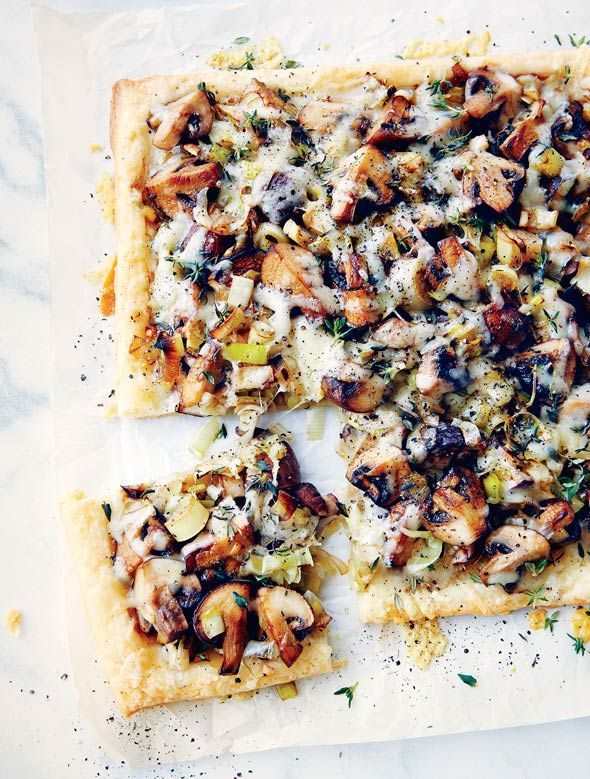 Mushroom Leek Tart | healthy in-season winter recipe