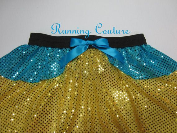 Flounder inspired yellow and blue Sparkle by RunningCouture