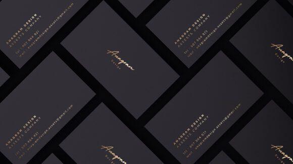 Dark Business Cards Showcase Mockup Psd Template Free Download Business Card Mock Up Black Business Card Mockup Business Cards Mockup Psd